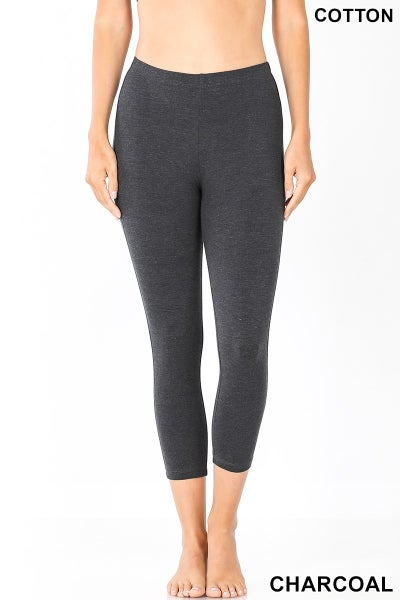 Deal of the Day! Comfort Capri Cotton Leggings - Charcoal