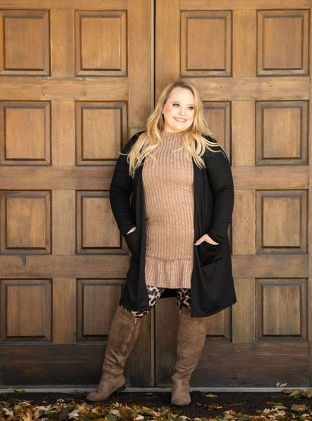 Deal of the Day!! Perfect  Cardigan - Black