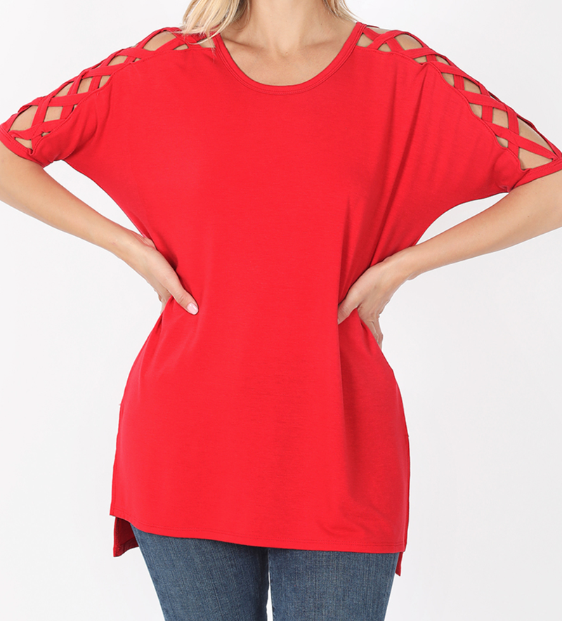 Deal of the Day!! Criss Cross Shoulder Top