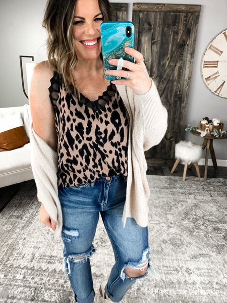 Jamie Leopard and Lace Cami