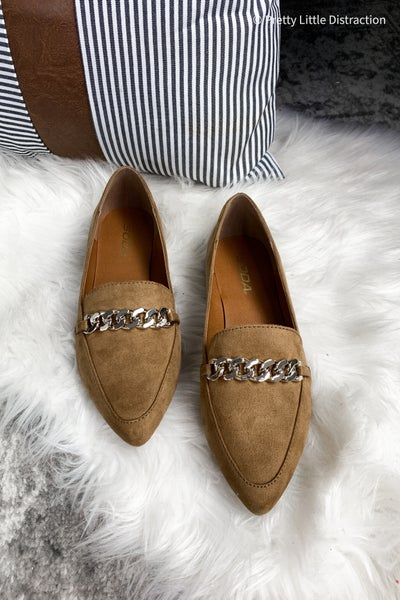 Belted Pointed Toe Flats