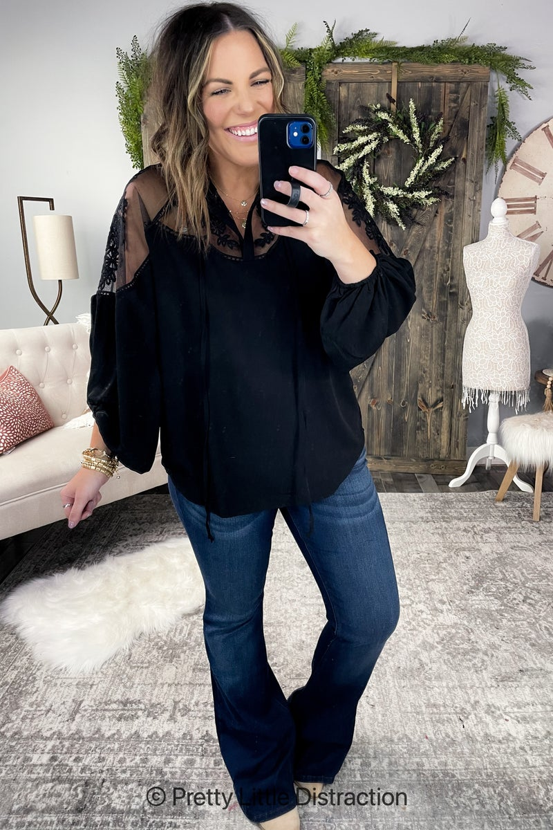 Peasant Style Lace Blouse