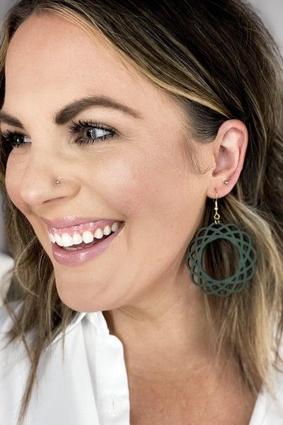 Mandala Wood Earrings