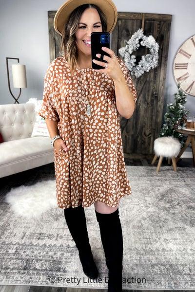 Camel Spotted Dress