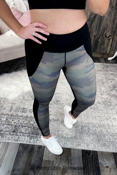 Camo Colorblock Leggings