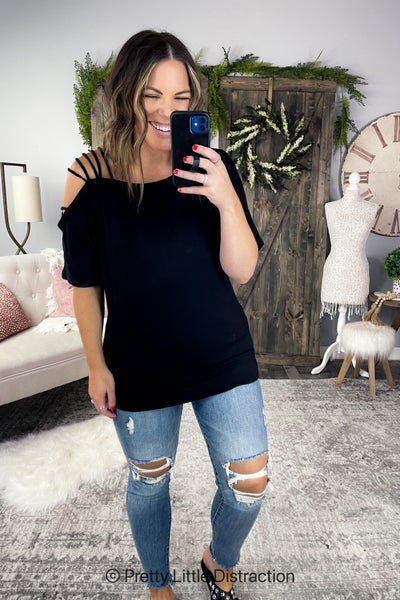 Off Shoulder with Strap Tunic