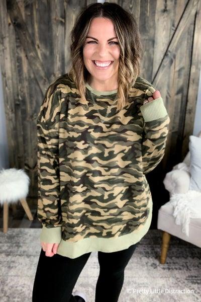 Kylie Camo Sweater