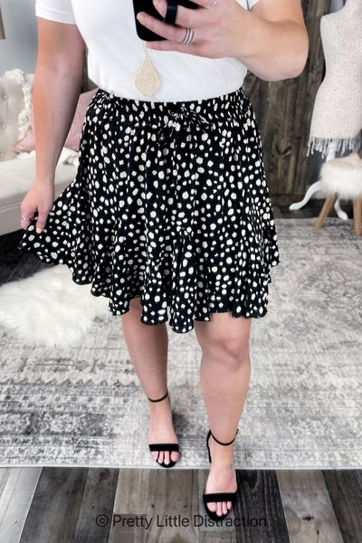 Dalmatian Print Skirt