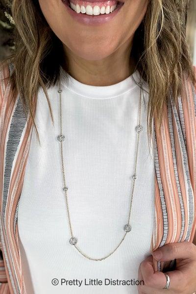 Round Textured Necklace