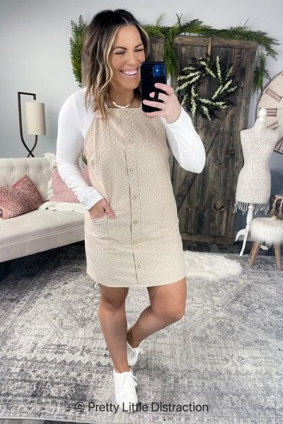Brianna Polka Dot Overall Dress