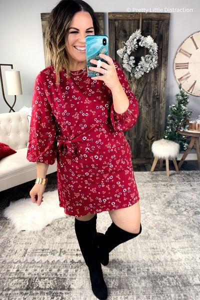Skylar Floral Wrap Dress (BF)