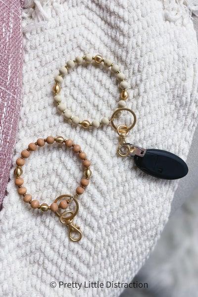 Wood and Metal Key Ring