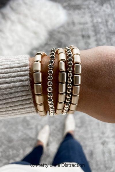 Stackable Metal Bead Bracelet