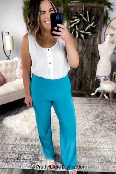 Short Girl Palazzo Lounge Pants