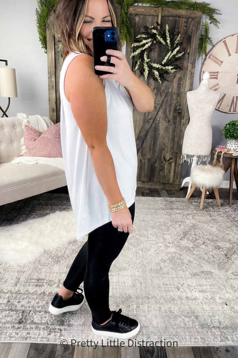 Relaxed Fit Sleeveless Tank
