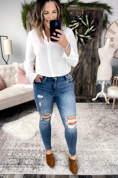 Lightwash Destructed Judy Blue Jeans