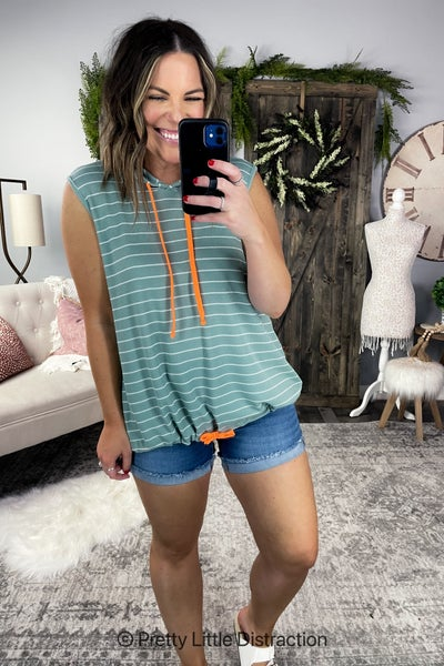 Striped Hooded Tank