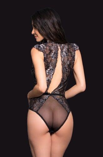 Lacy Open-Back Bodysuit