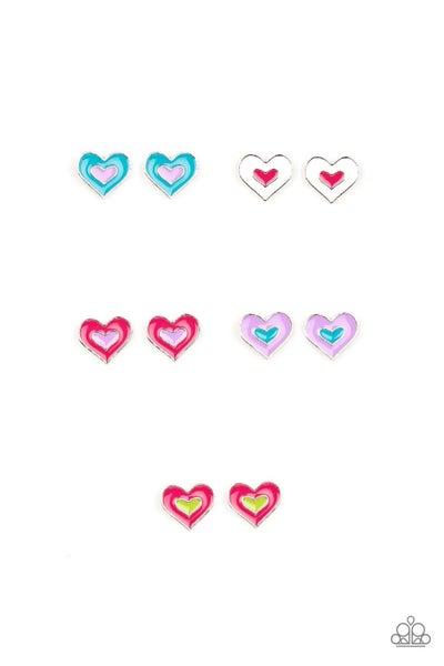 Starlet Shimmer - Multi-Colored Heart Frames
