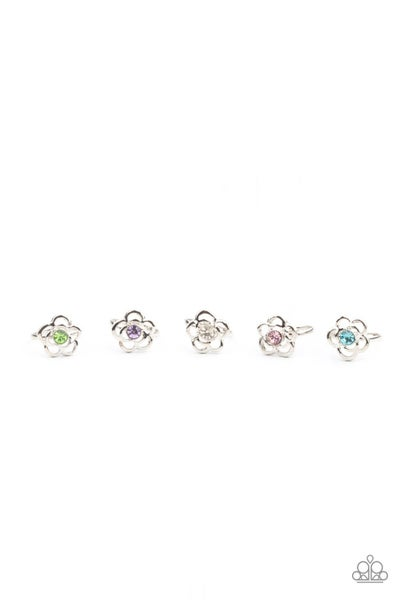 Starlet Shimmer - Rhinestone Floral Rings