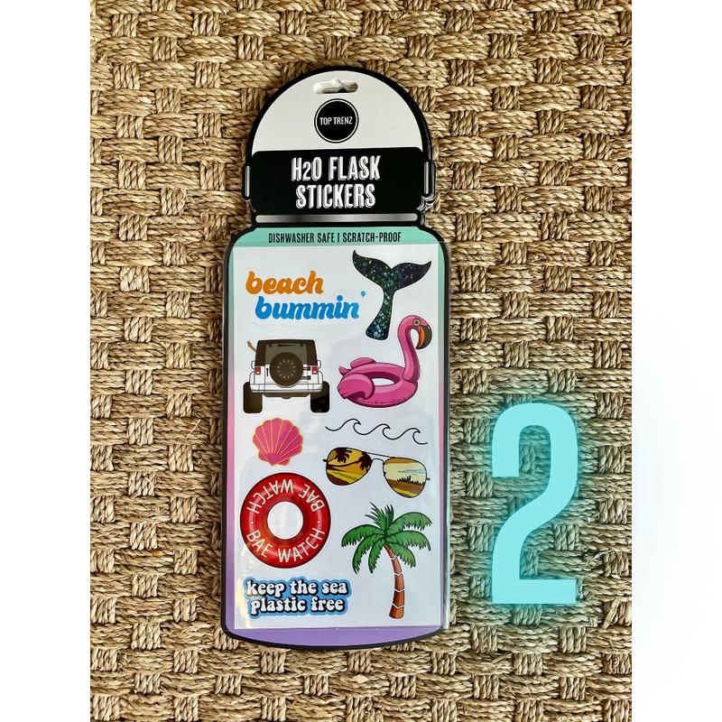 Wild Water Bottle Stickers