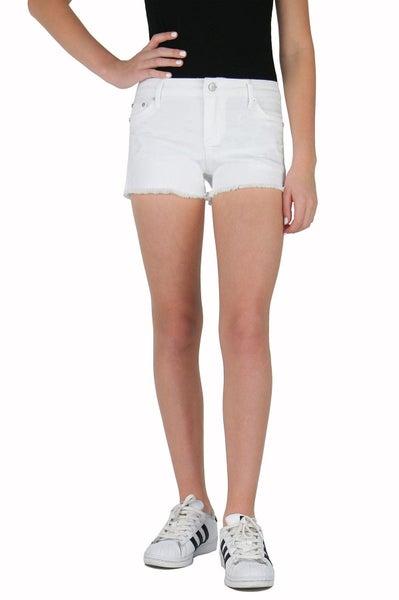 Tractr Girls White Denim Short
