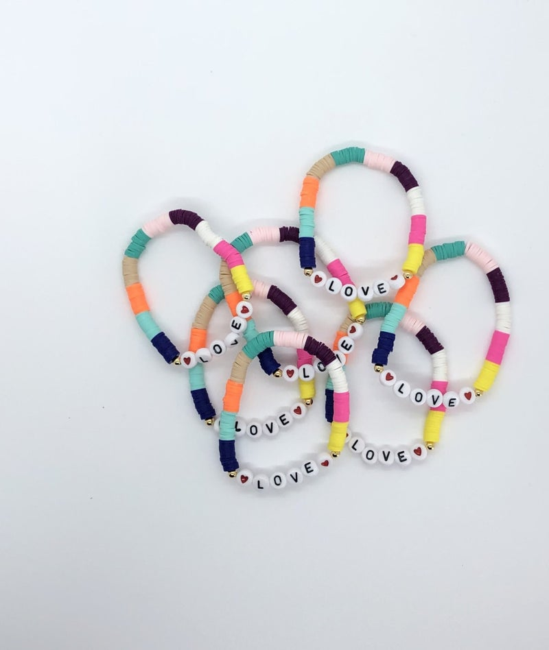 LOVE Heishi Bracelets