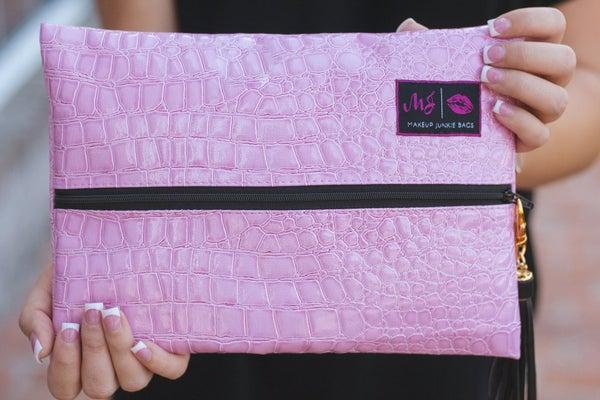 Pink Blush Bubble Gator Makeup Junkie Bag