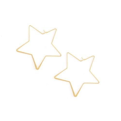 Splendid Iris Star Hoops