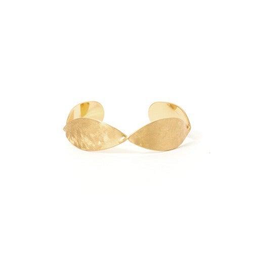 Splendid Iris Hammered Cuff Bracelet
