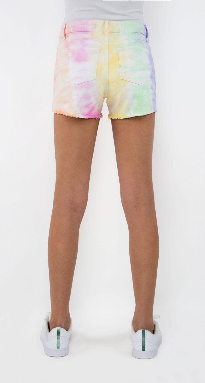 Tractr Girls Tie Dye Short