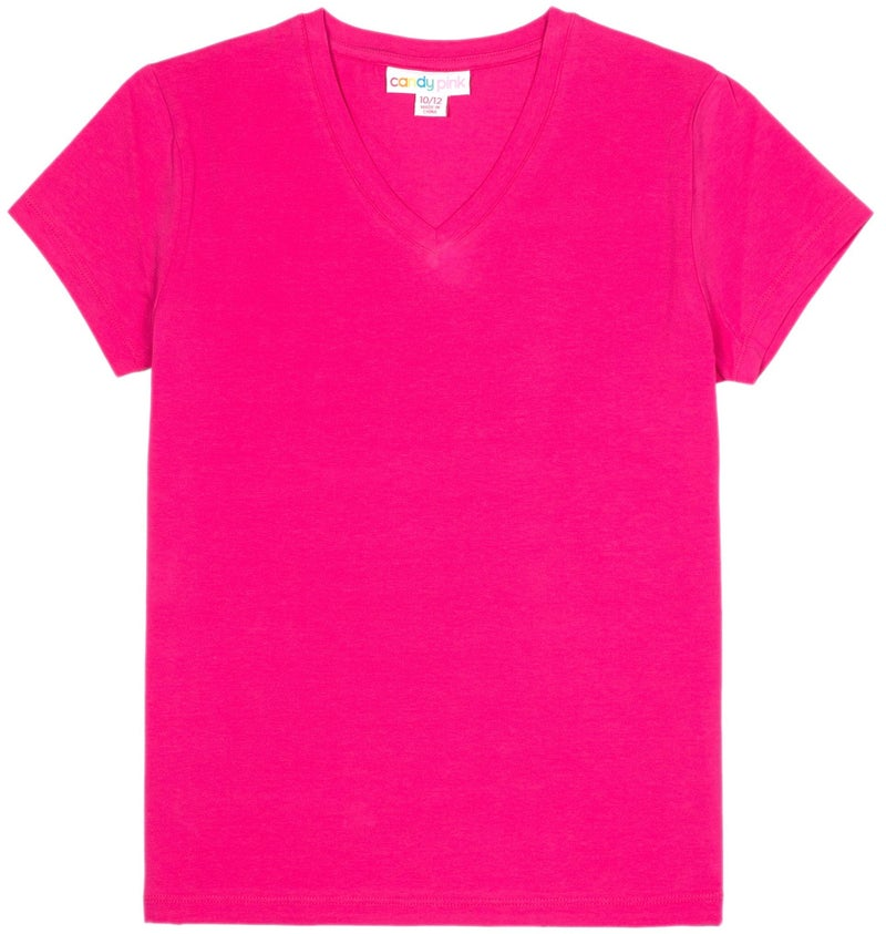 Candy Pink Basic Tee