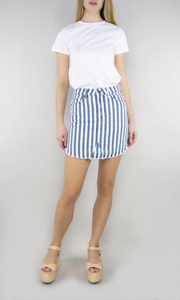 Seeing Strips Denim Skirt