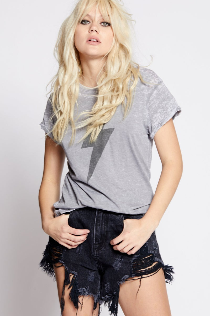 ACDC Bolt Distressed Tee