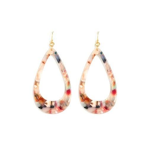 Teardrop Acetate Earrings by Splendid Iris