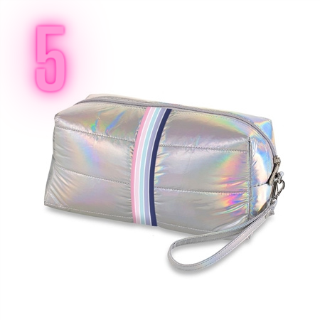 Puffer style makeup bag