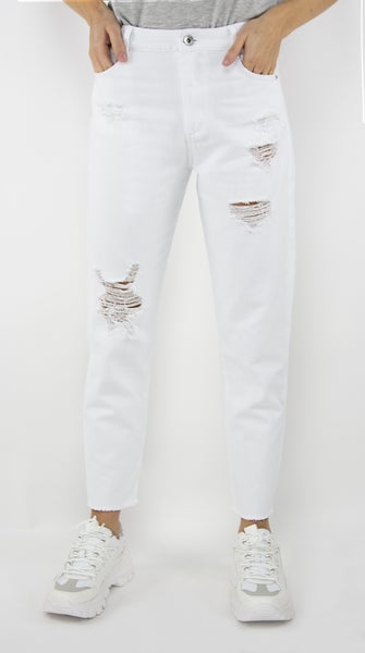 Tractr Blue White Weekender Jean