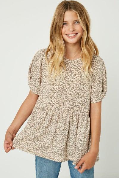 Blushing Leopard Top