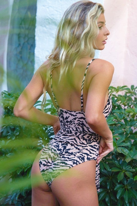 Tigress Cut Out  Swimsuit