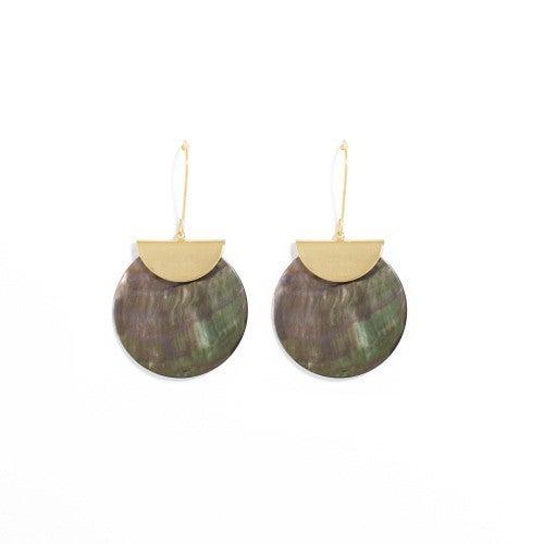 Splendid Iris Shell Earrings