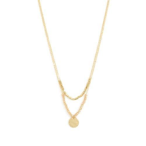 Splendid Iris Double Layer Necklace