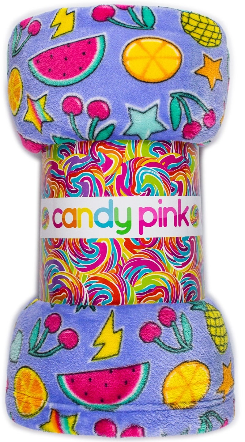 Candy Pink Plush Blanket