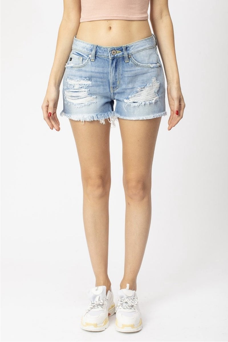 Kancan Mid Rise Boyfriend Fit Shorts