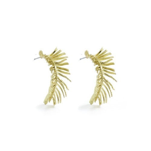 Splendid Iris Leaf Earrings