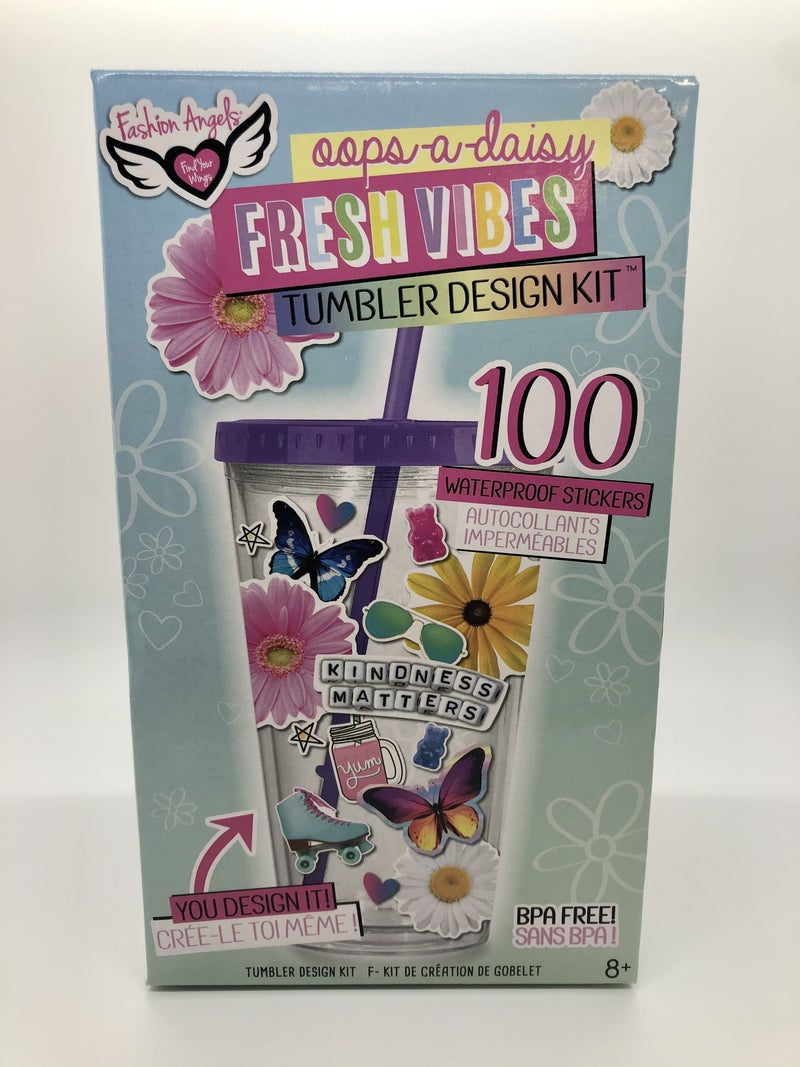 Fresh VIbes Sticker Tumbler Design Kit