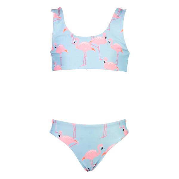 Flamingo Fun Girls Reversible Bikini