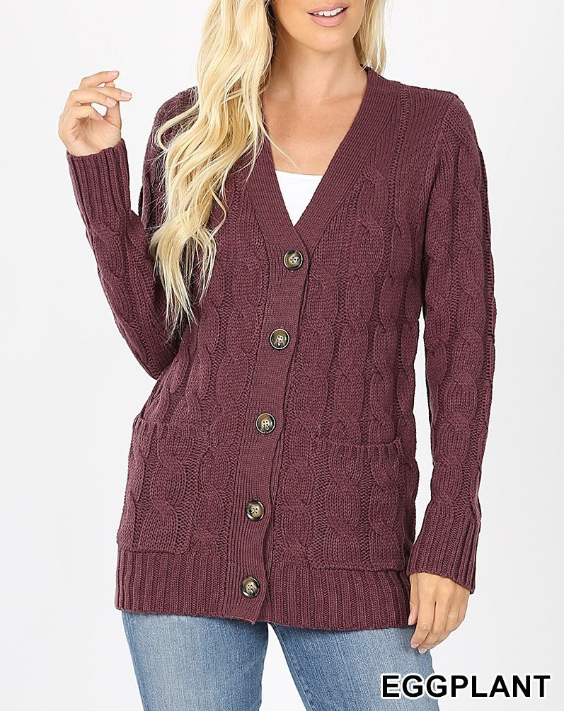 Comfy Cable Sweater with Pockets
