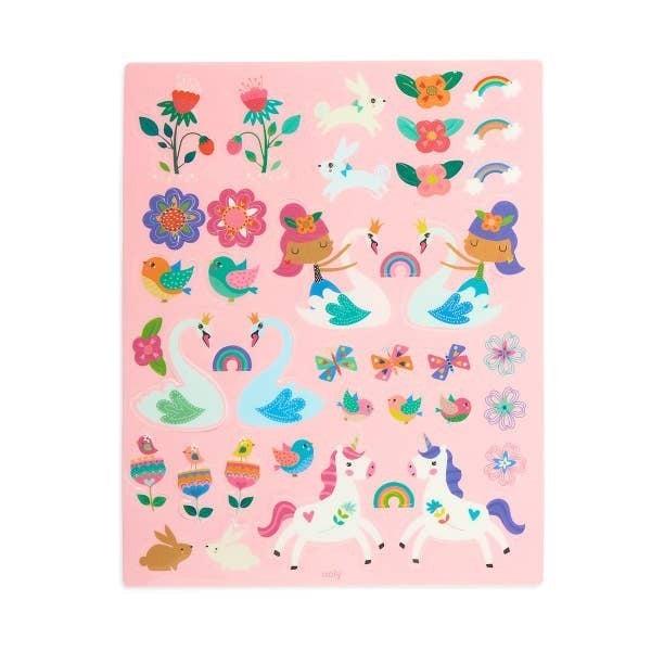 'Play Again!' reusable sticker scenes: 'Princess Garden'