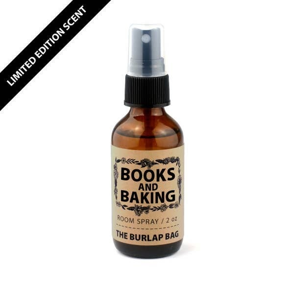 'Books and Baking' room spray - The Burlap Bag