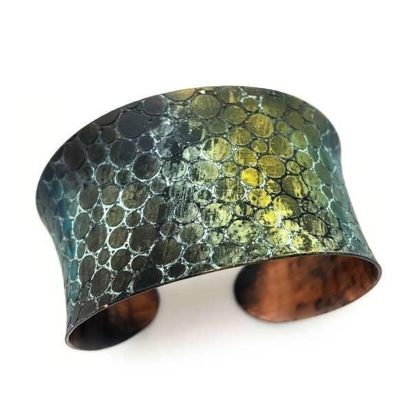 Mermaid Scales Copper Patina Bracelet : Anju